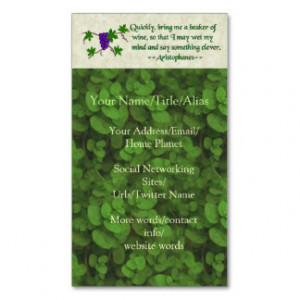 Bartender Business Cards Quotes