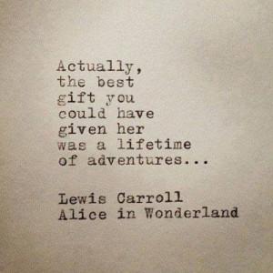 Adventure time...