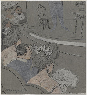 Oliver Herford, John Drew, ca. 1913 Pencil, pastel, and opaque white ...
