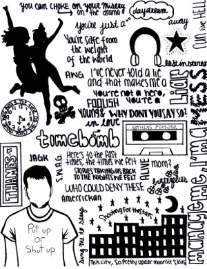 All Time Low Lyric Drawings Tumblr
