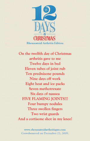 12 Days Of Christmas (Rheumatoid Arthritis Edition)