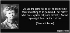 More Eleanor H. Porter Quotes