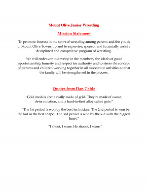 ... Olive Junior Wrestling Mission Statement Quotes from Dan by miaroddy
