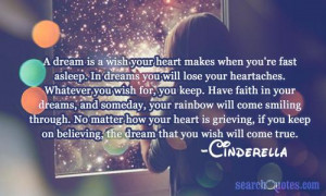 ... keep on believing, the dream that you wish will come true. -Cinderella