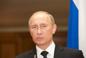 David Cameron And Vladimir Putin At A Press Conference
