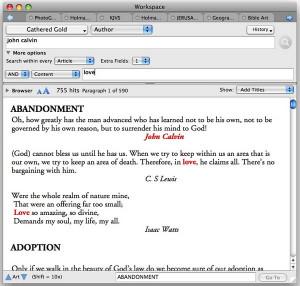 Quote Mining John Calvin