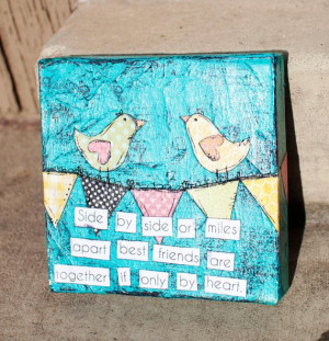Best Friends - Canvas Art - So Tweet Designs - Perfect Gift (6x6)