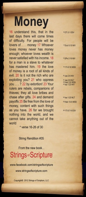 bible verse about money that s often misunderstood