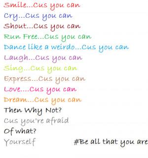 colorful, cool, fun, inspiring, quotes, true