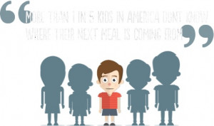 One in five kids in the U.S. don't know where their next meal is ...