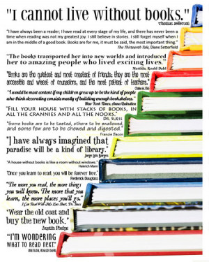 Here you have some famous quotes about books