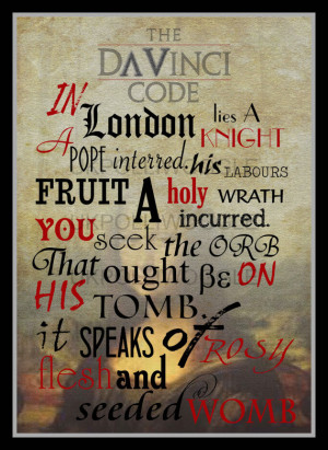 The Da Vinci Code, movie quote poster, minimalist, tom hanks,crypt ...