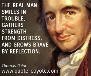 Smile quotes - The real man smiles in trouble, gathers strength from ...