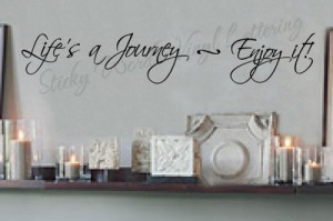 Lifes a journey 8x45 Vinyl Lettering Wall Quotes Words Sticky Art