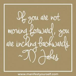 ... you are inching backwards.