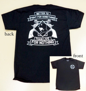 Patton Museum Fight For Something Quote Black Adult Shirt