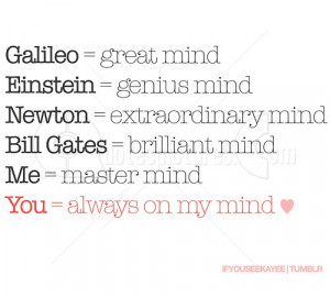 You are always on my mind