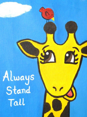 ... HannahBarber, $40.00 #giraffe #kids #painting #quotes #inspirational