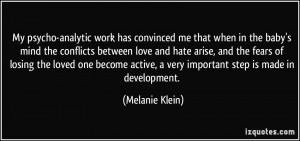 More Melanie Klein Quotes