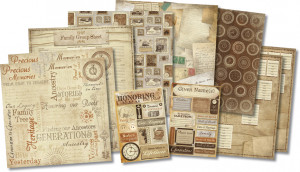 Karen Foster Design - Ancestry Collection - Scrapbook Kit - Honoring ...