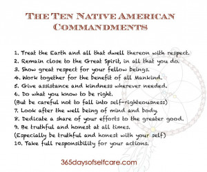 ten native american commandments page 001 The Ten Native American ...