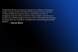 Parkour Quotes - David Belle by KingFluffs