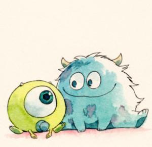 monster inc, draw, cute | via Tumblr