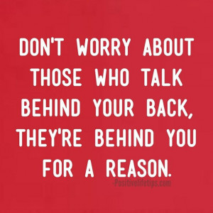 People Who Talk Behind Your Back Quotes