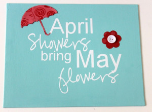 April Showers Stenciled Sign by Occasionally Crafty for ...