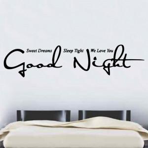 Good Night Quote Vinyl Wall Art