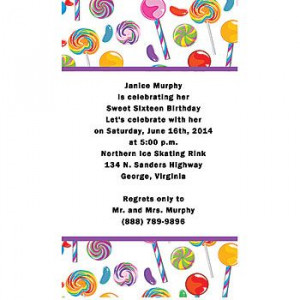 Invite your candy party guests with these sweet event invitations ...