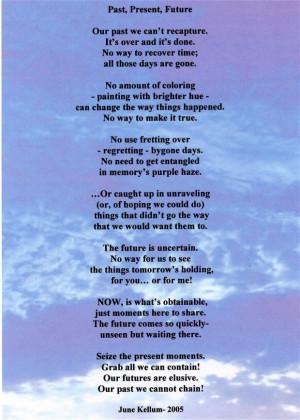 Past present future poem