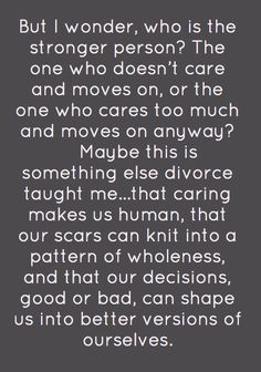 ve never been divorced but it applies to any loss, whether ...