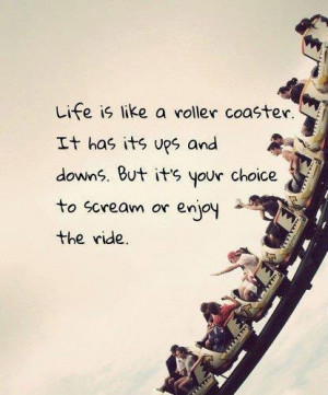 Rollar coaster of life.