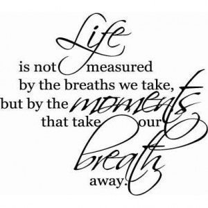 Life is Not Measured | Wall Decals - Trading Phrases - Photo