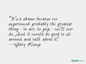 Gary Kemp Quotes