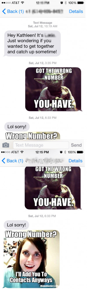 Funny Text Wrong Number Memes