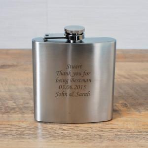 ... , Pageboy Gifts / Engraved Wedding Hip Flask For Best Man Usher Groom
