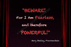 Mary Shelley Frankenstein Goth Quote Art by JenniferRoseGallery, $20 ...