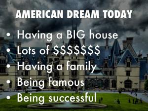 1920s American Dream American dream today