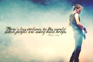 mikey way, my chemical romance, quote