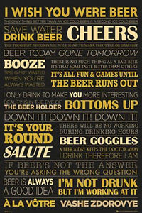 ... BEER LIFE POSTER - 24x36 QUOTES TERMS CHEERS BAR DRINKING TOAST LIST