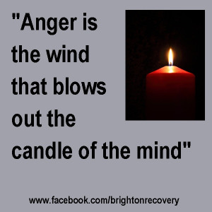 Anger is the wind that blows out the candle of the mind