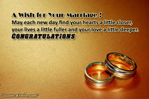 Wish for Your Marriage !