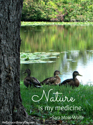 Nature is my medicine ~ Quote :: The Week at a Glance 9/7 - An ...