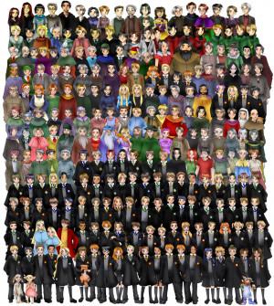 Ginny Weasley, Draco Malfoy, Lavender Brown, Angelina Johnson, George ...