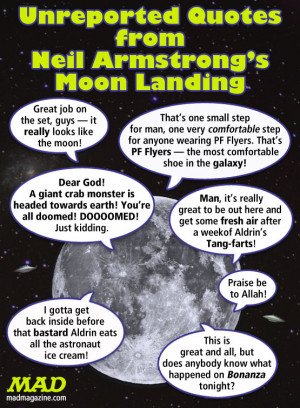 Unreported Quotes from Neil Armstrong's Moon Landing