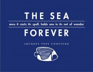 The Sea 8x10 Typographic Art Print by cjprints on Etsy, $12.99