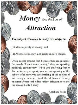 money-law-of-attraction-abraham-quote