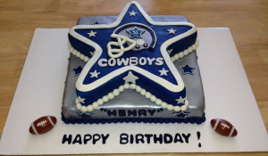 Dallas Cowboys Birthday Cake!